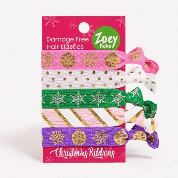 Hair Ties - Christmas Ribbons