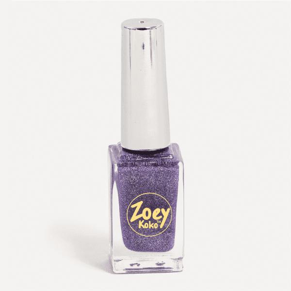 Dark Purple Glitter Nail Polish - Night Time in Saturn